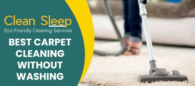 Carpet Cleaning Without Washing